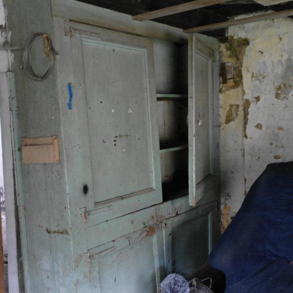 Voorheen was dit werkkamer in de schuur.