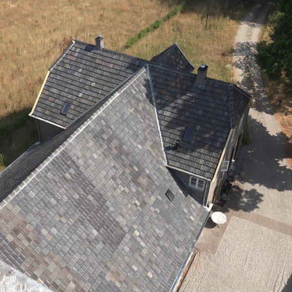 Het nieuwe dak.