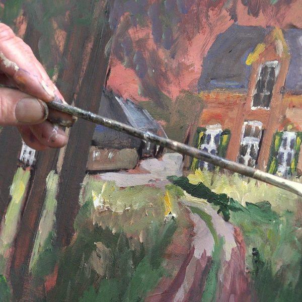 Aart schildert de Goedenberg.