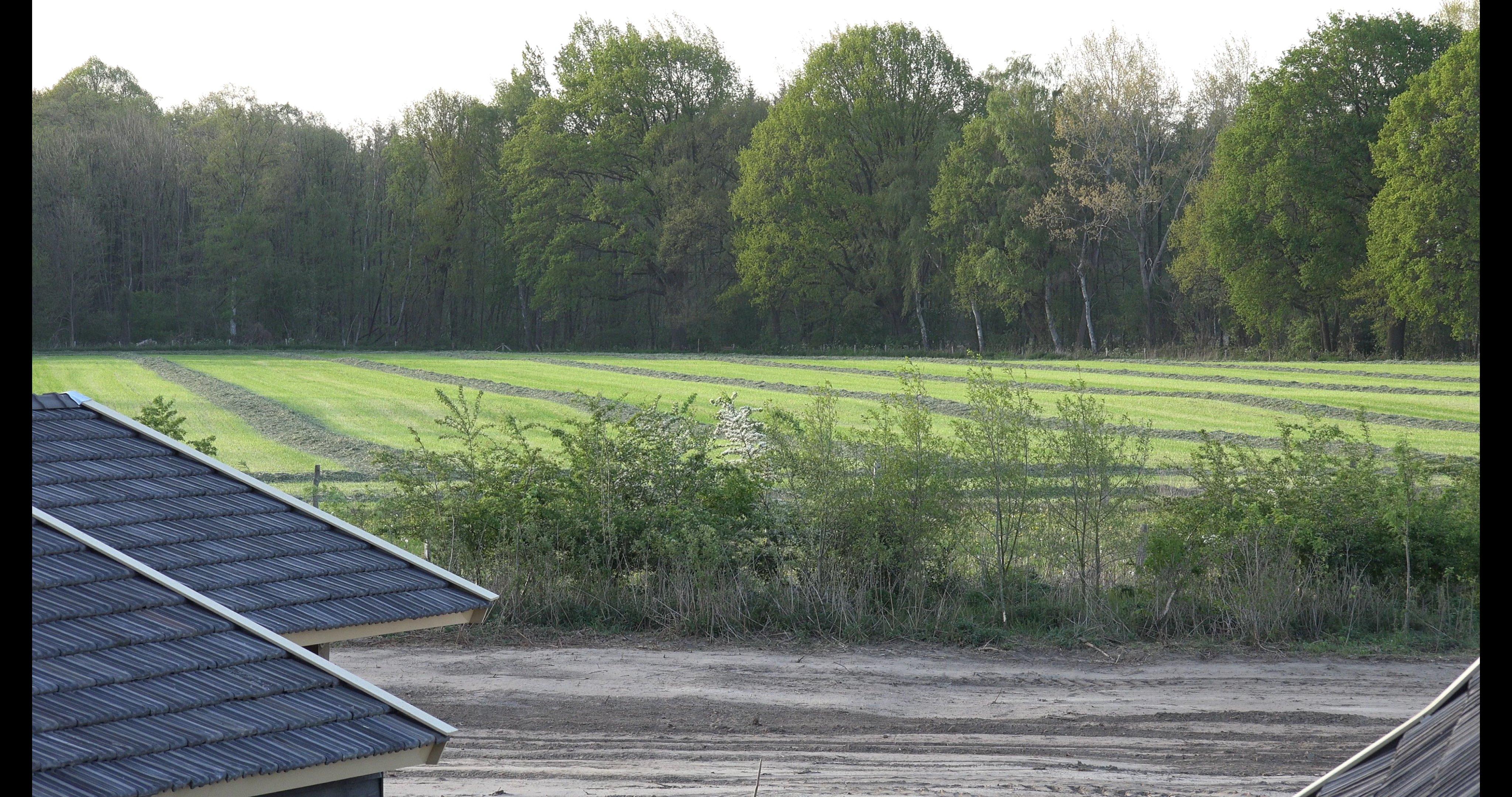 Het gras ligt klaar om gehaald te worden
