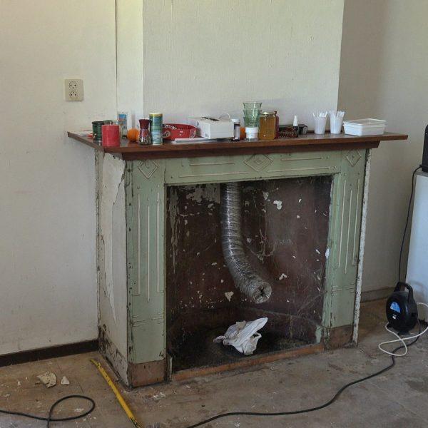 De schouw in de eetkamer.
