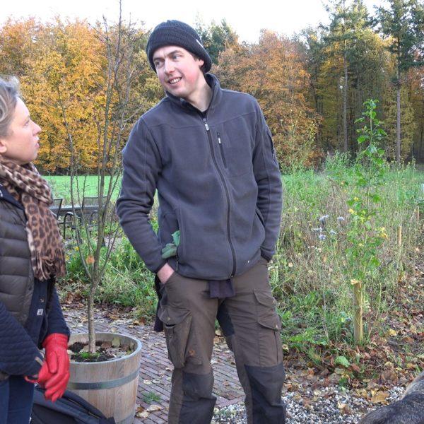 Jan Willem vertelt welke bollen hij heeft aangeplant