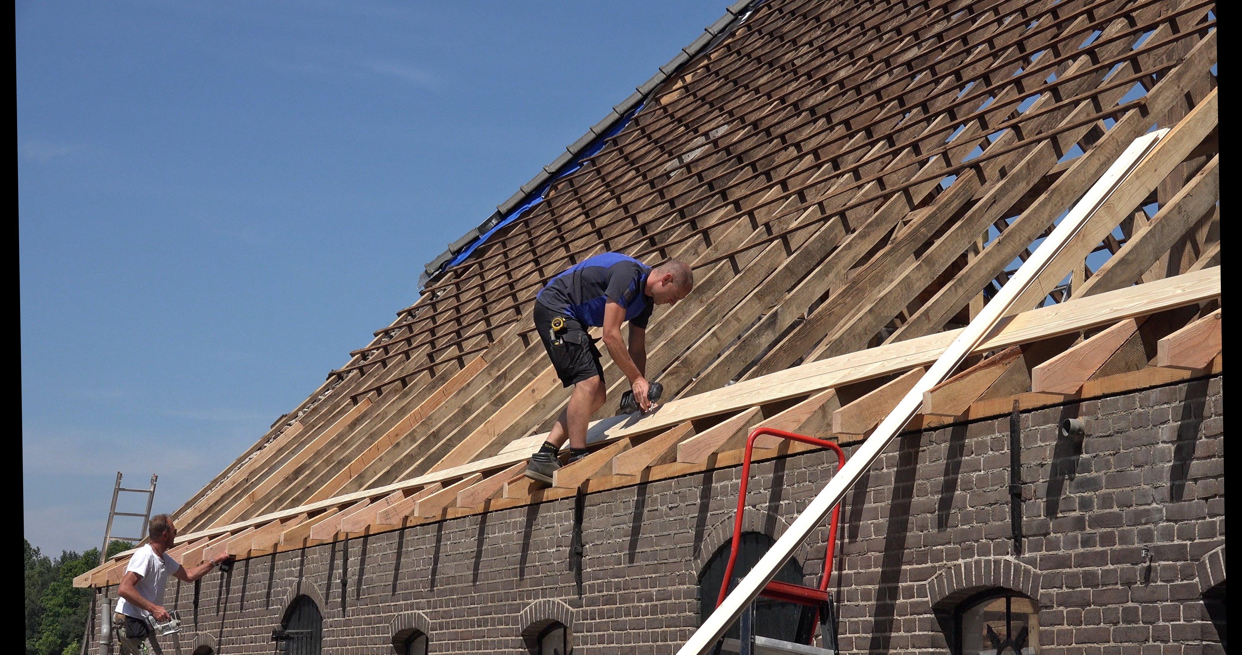 Was en Sander beschieten het dak
