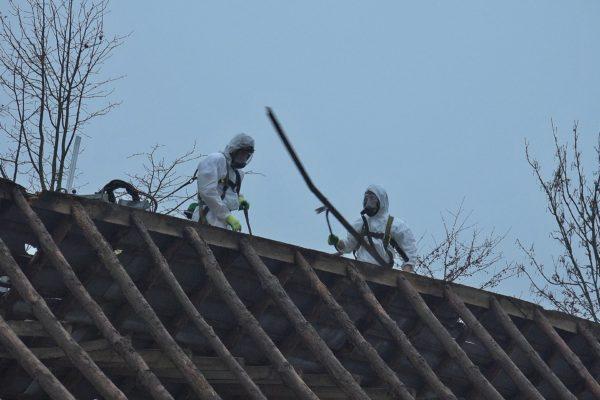 Asbest sanering van de schuur.